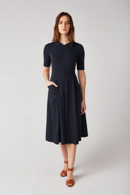 Lana Kleid Himiko Blau aus Bio-Baumwolle