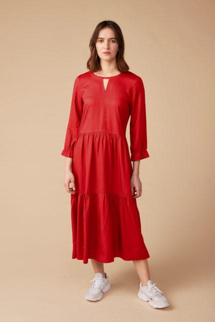 Lana Kleid Oceane Rot