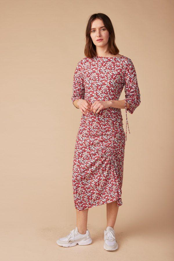 Lana Midi Kleid Olympe aus Bio-Baumwolle