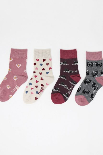 Thought Kindersocken Geschenkset Kitty baby