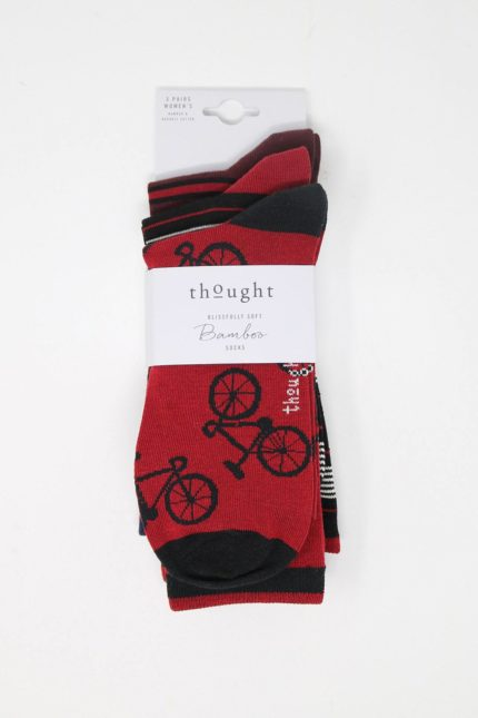 Thought 3er-Geschenkset Herrensocken Jonathan Bicycle