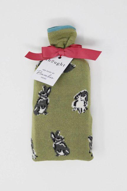 Thought 2er-Geschenkset Damensocken Bunny