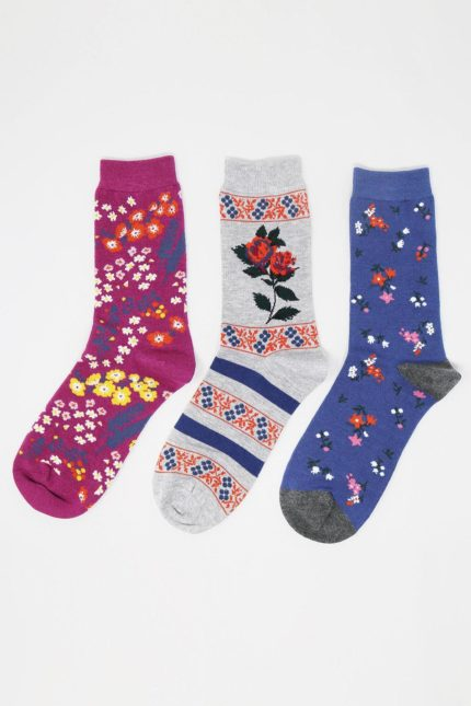 Thought 3er-Geschenkset Damensocken Rozalia Floral