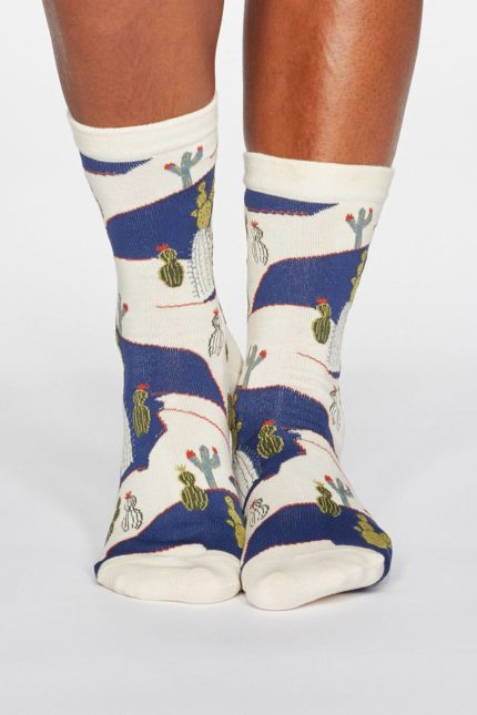 Thought Damensocken Ettie Cactus Cremefarben