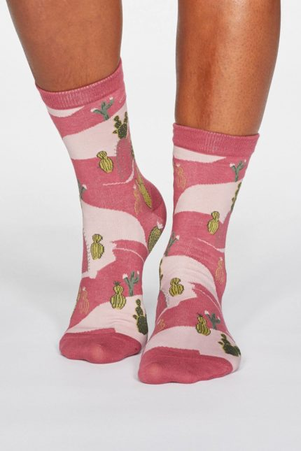 Thought Damensocken Ettie Cactus Rosa