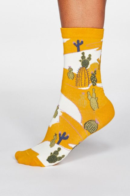 Thought Damensocken Ettie Cactus Gelb