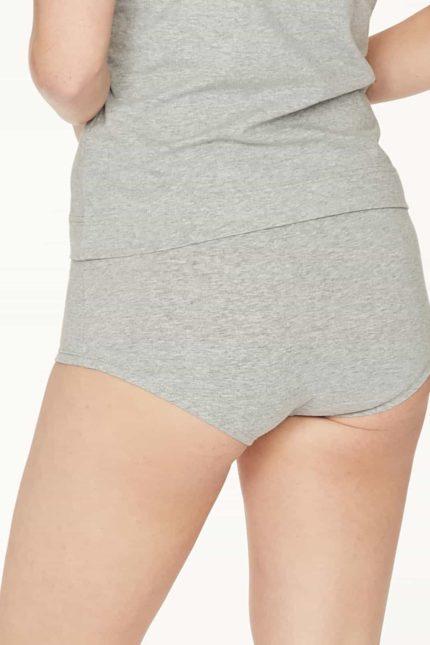 Thought Slip mit Beinansatz Leah Grau aus Bio-Baumwolle
