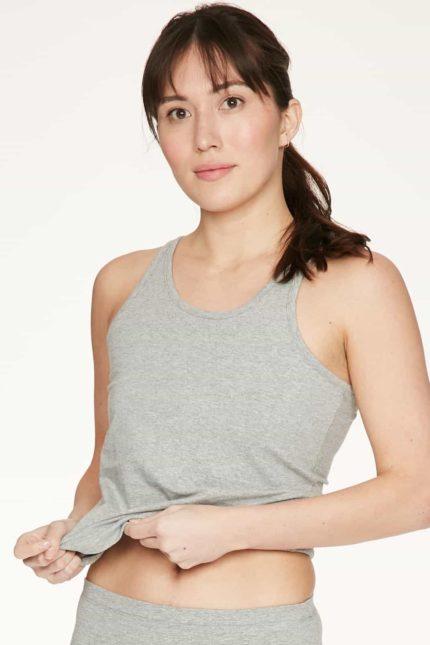 Thought Unterhemd Leah Grau aus Bio-Baumwolle