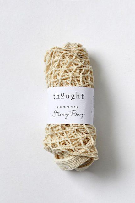Thought Einkaufsnetz Weiß aus Bio-Baumwolle
