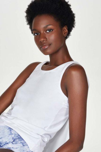 Thought Unterhemd Leah Weiß aus Bio-Baumwolle