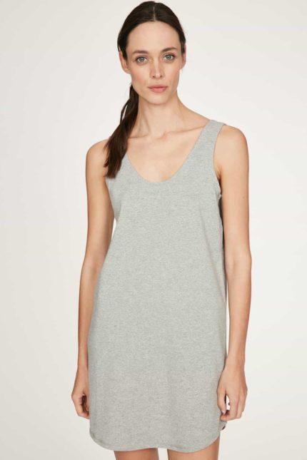 Thought Nachthemd Leah Grau aus Bio-Baumwolle
