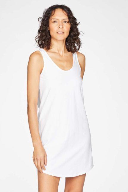 Thought Nachthemd Leah Weiß aus Bio-Baumwolle