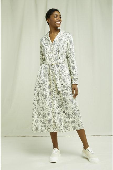 People Tree Blusenkleid V&A Anaya aus Bio-Baumwolle