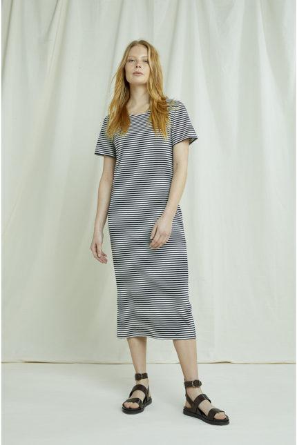 People Tree Kleid Darika Blau aus Bio-Baumwolle