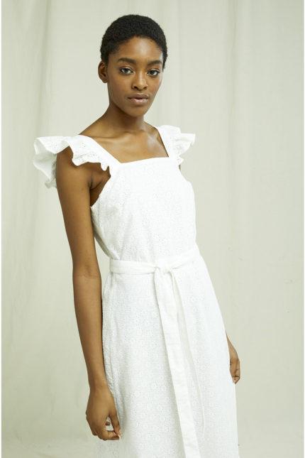 People Tree Besticktes Kleid Jaya aus Bio-Baumwolle