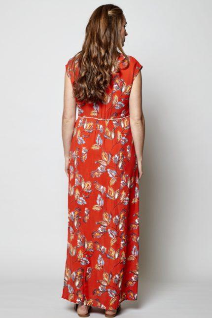 Nomads Maxi Kleid Aquarelle Rot