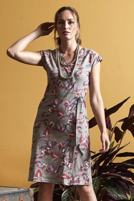 Nomads Kleid Aquarelle Tie Braun
