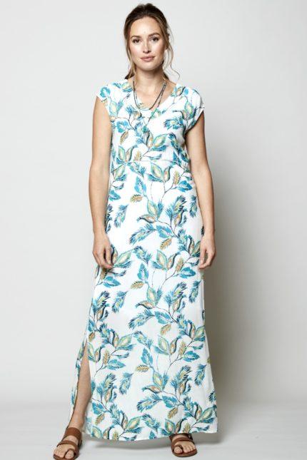 Nomads Maxi Kleid Aquarelle Weiß