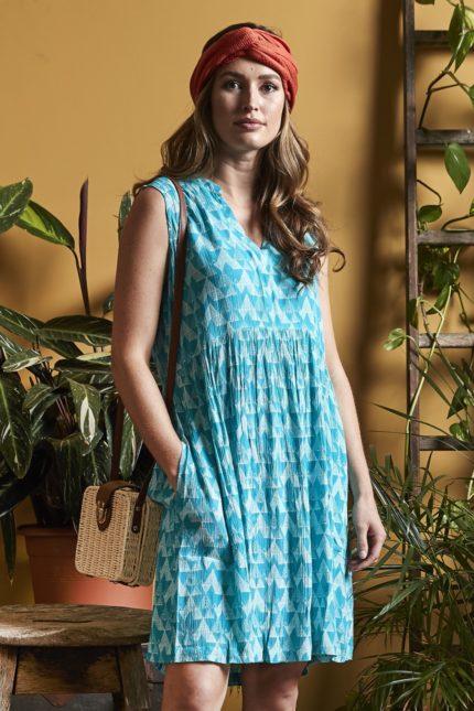 Nomads Tunika Kleid Cairo Blau