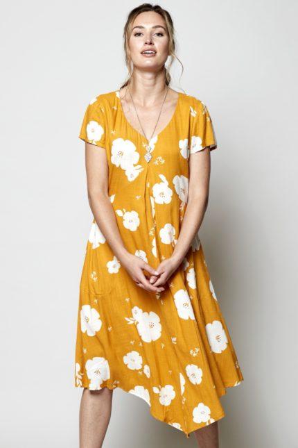 Nomads Kleid Hibiscus Gelb