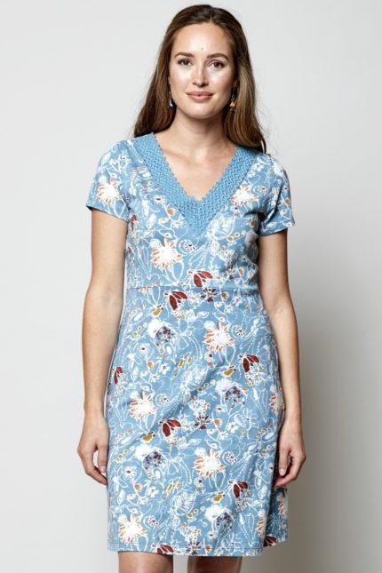 Nomads Tunika Kleid Hepworth Crochet Blau