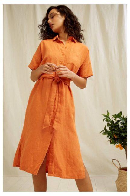 People Tree Blusenkleid aus Leinen Leanora