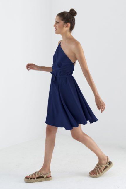 Suite13 Tencel Kleid Daphne Dark Blue kurz