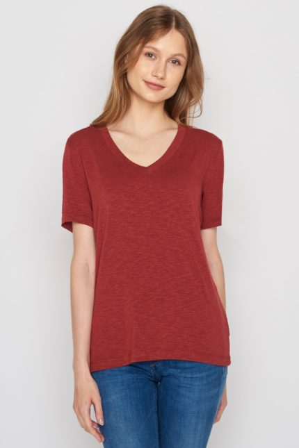Greenbomb Damen T-Shirt Petite Braun