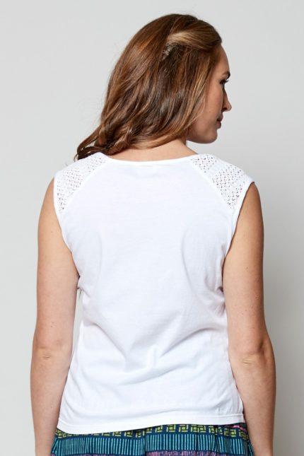Nomads Top ärmellos Weiß aus Bio-Baumwolle