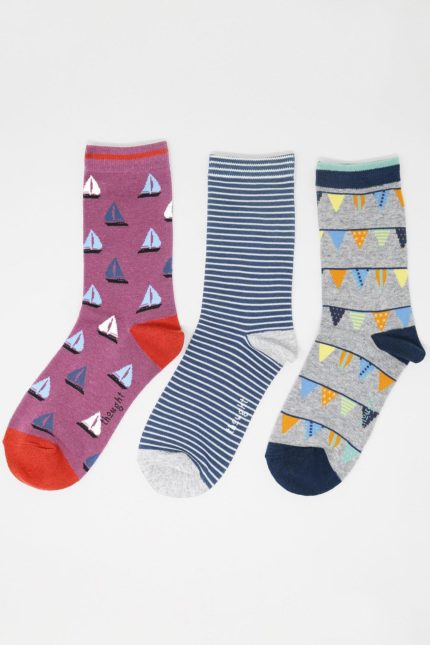 Thought Damensocken Geschenkset Dreierpack Hope Nautical