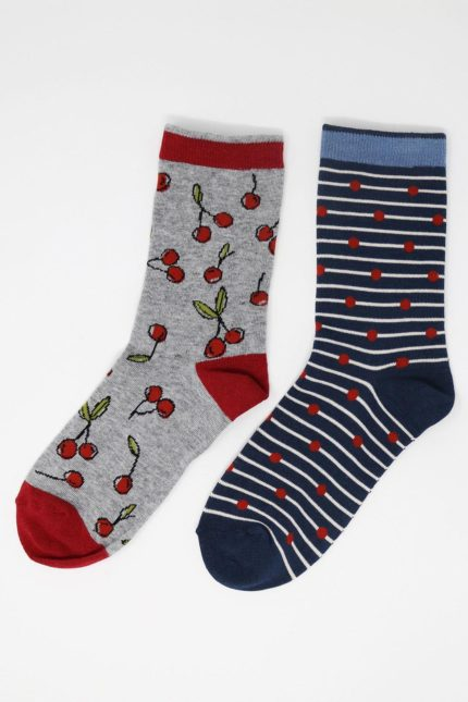 Thought Damensocken Geschenkset Doppelpack Juliet Cherry