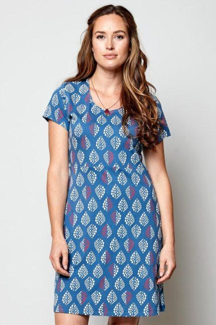 Nomads Tunika Kleid Solitaire Blau aus Bio-Baumwolle
