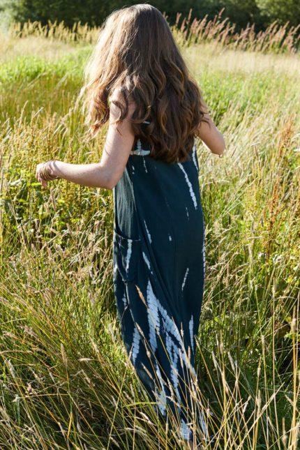 Nomads Batik Kleid Charcoal