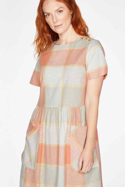 Thought Kleid Alexa Check aus Bio-Baumwolle