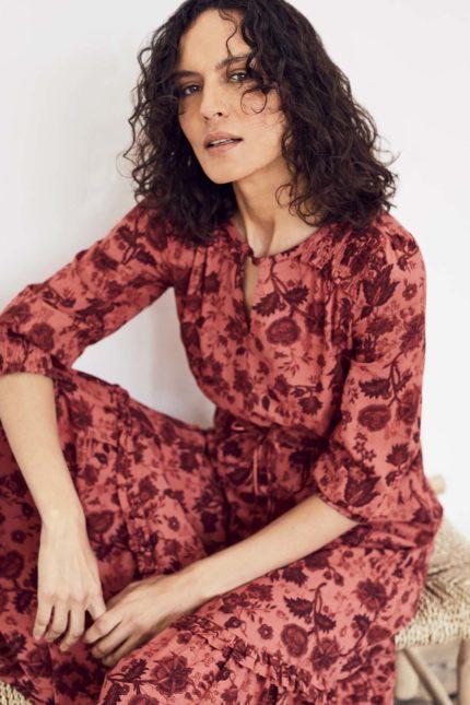 Thought Maxi Kleid Autumn aus Bio-Baumwolle