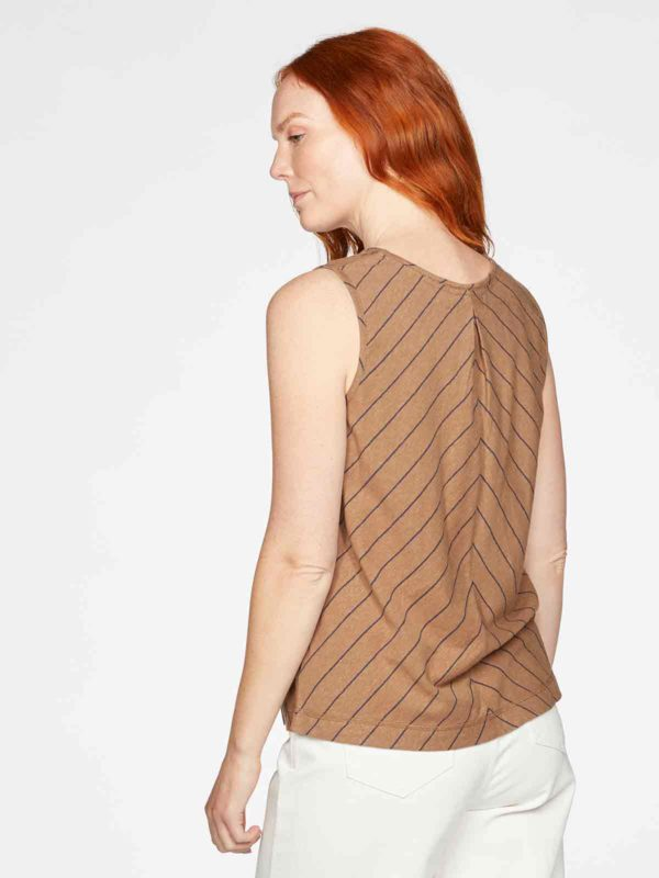 Thought Top Cecilia mit Hanf Braun
