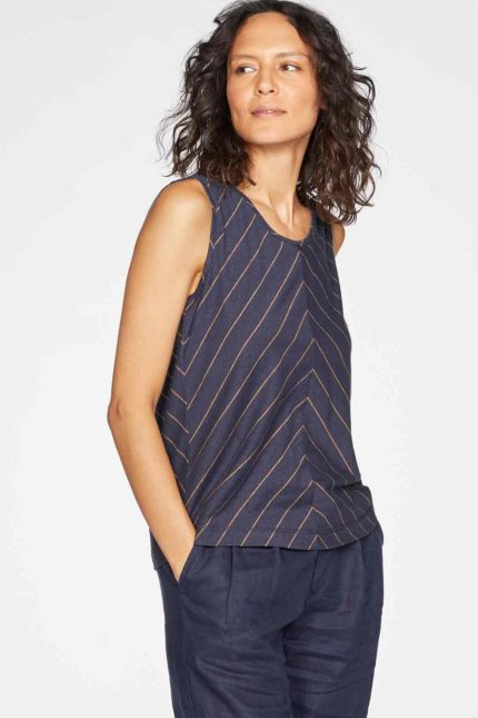 Thought Top Cecilia mit Hanf Blau