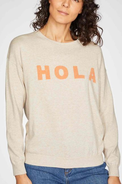 Thought Pullover Hola mit Wolle