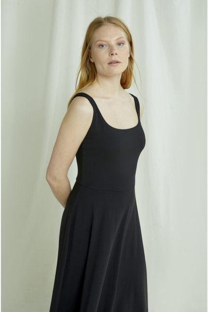 People Tree Kleid Tyra schwarz aus Bio-Baumwolle
