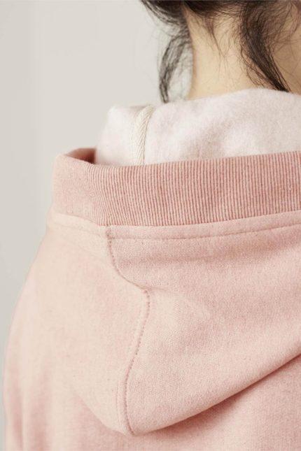 Living Crafts Kapuzenpullover für Damen Flora rosa aus Bio-Baumwolle