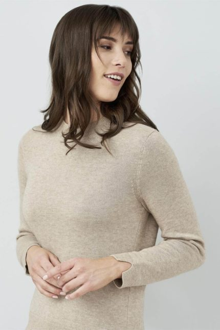 Living Crafts Pullover Jule braun mit Wolle