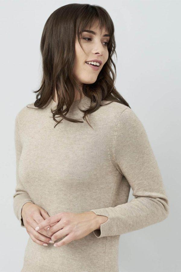 Living Crafts Pullover Jule braun mit Wolle