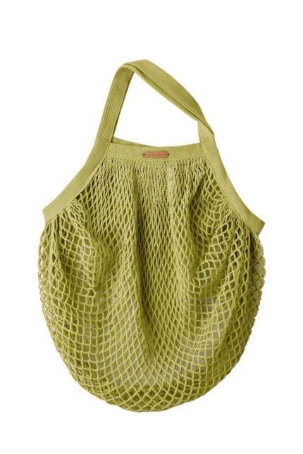 Living Crafts Netztasche Grenoble grün aus Bio-Baumwolle