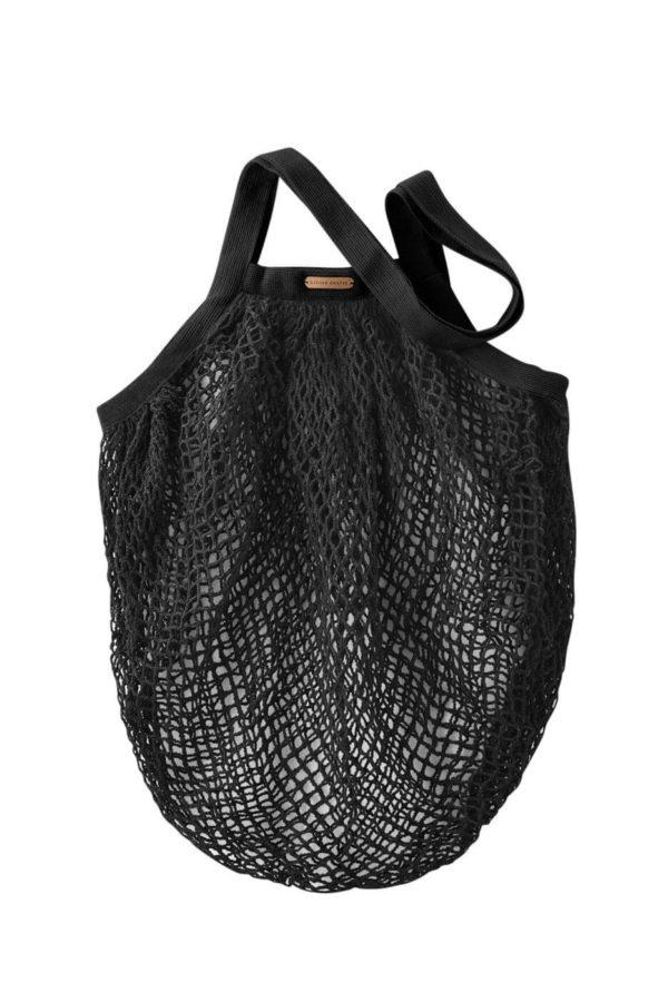 Living Crafts Netztasche Grenoble schwarz aus Bio-Baumwolle