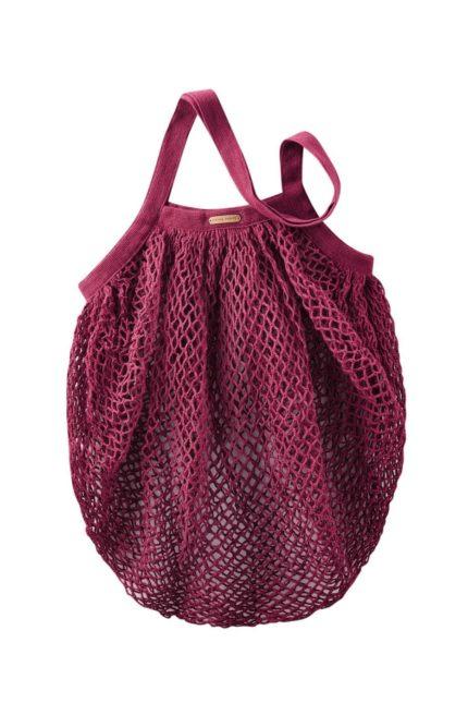 Living Crafts Netztasche Grenoble rot aus Bio-Baumwolle
