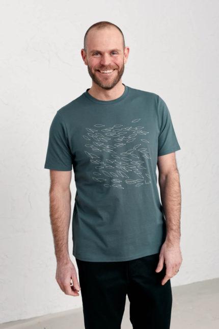 Seasalt Cornwall T-Shirt Midwatch Shoal für Herren aus Bio-Baumwolle