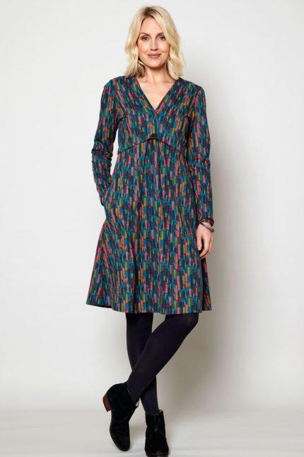 Nomads Kleid Button Peacock aus Bio-Baumwolle