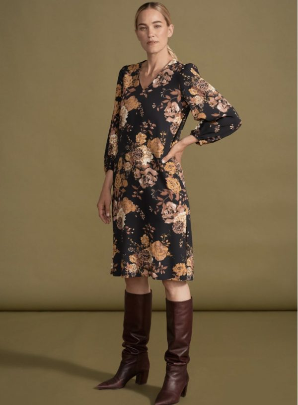 rosetti-peasant-sleeve-dress