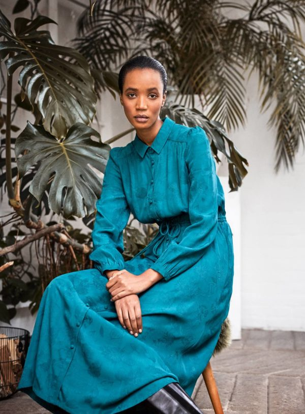 wwd-malachite-green-edwina-ecovero-tie-front-jacquard-shirt-dress-in-green-1-3